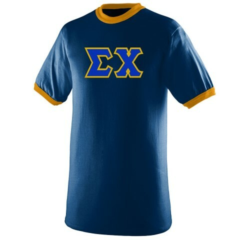 DISCOUNT- Sigma Chi Lettered Ringer Shirts
