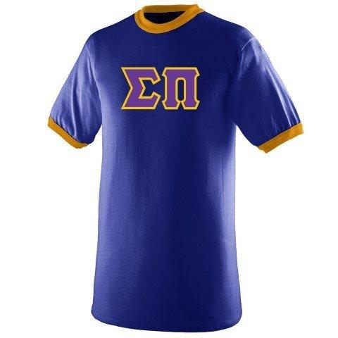 DISCOUNT- Sigma Pi Lettered Ringer Shirt