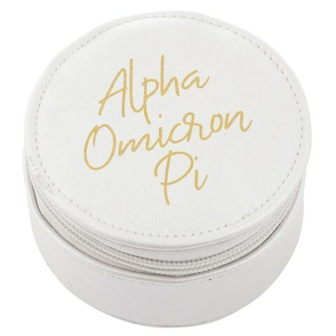 Alpha Omicron Pi Travel Round Case