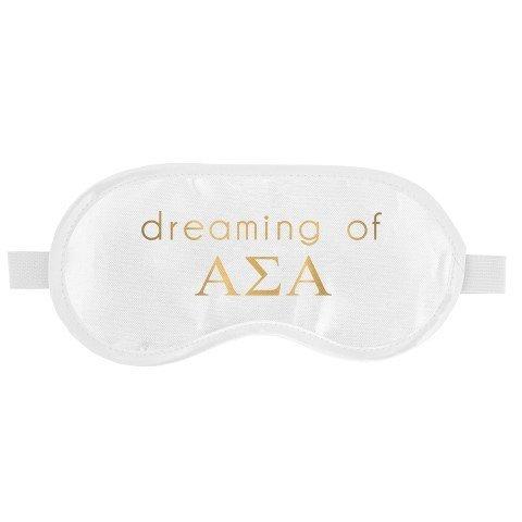 Alpha Sigma Alpha Satin Sleep Masks