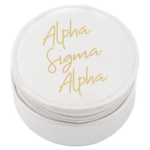 Alpha Sigma Alpha Travel Round Case