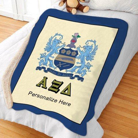 Alpha Xi Delta Sherpa Lap Blanket