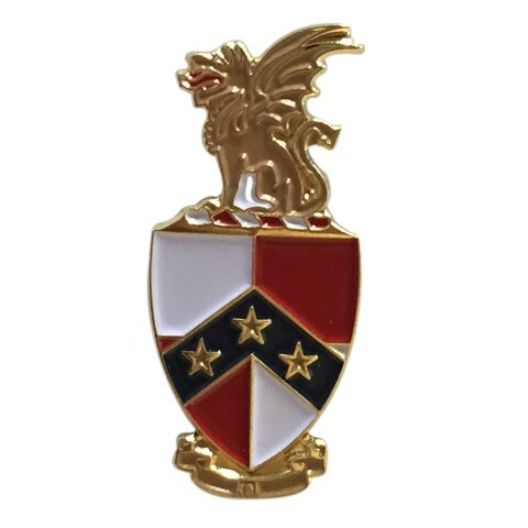 Beta Theta Pi Color Crest - Shield Pins