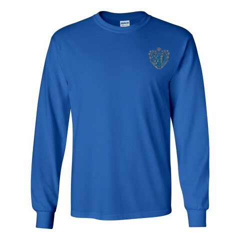 DISCOUNT-Chi Phi Fraternity Crest - Shield Longsleeve Tee