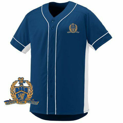 DISCOUNT-Delta Kappa Alpha Fraternity Crest - Shield Slugger Baseball Jersey