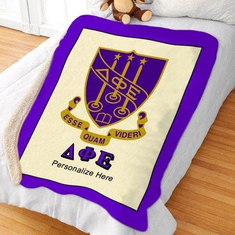Delta Phi Epsilon Sherpa Lap Blanket
