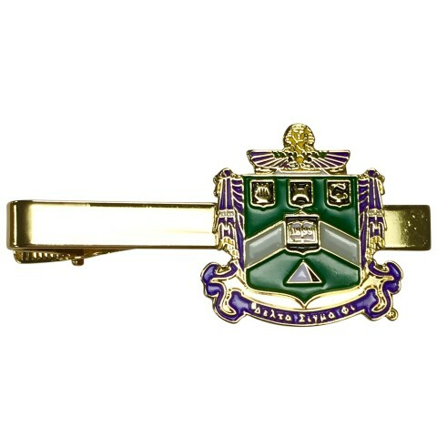 Delta Sigma Phi Color Crest - Shield Tie Clips