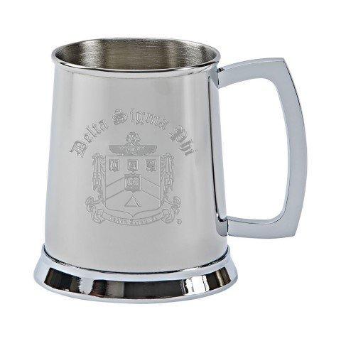 Delta Sigma Phi Tankard - Stainless Steel