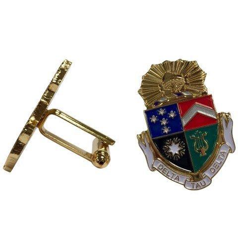 Delta Tau Delta Color Crest - Shield Cuff links