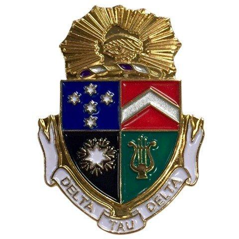 Delta Tau Delta Color Crest - Shield Pins