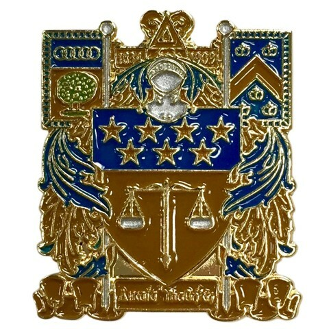 Delta Upsilon Color Crest - Shield Pins