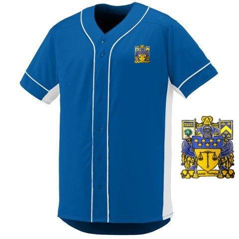 DISCOUNT-Delta Upsilon Fraternity Crest - Shield Slugger Baseball Jersey