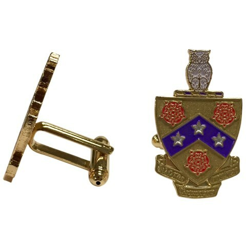 FIJI Fraternity Color Crest - Shield Cuff links
