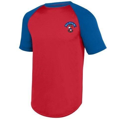 DISCOUNT-Greek Wicking Short Sleeve Baseball Jersey