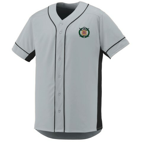 DISCOUNT-Omega Psi Phi Fraternity Crest - Shield Slugger Baseball Jersey