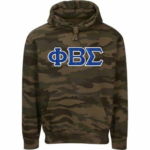 Phi Beta Sigma 2 Day Ship Camo Hooded Twill Sweatshirt