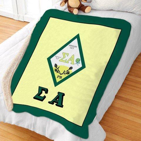 Sigma Alpha Sherpa Lap Blanket