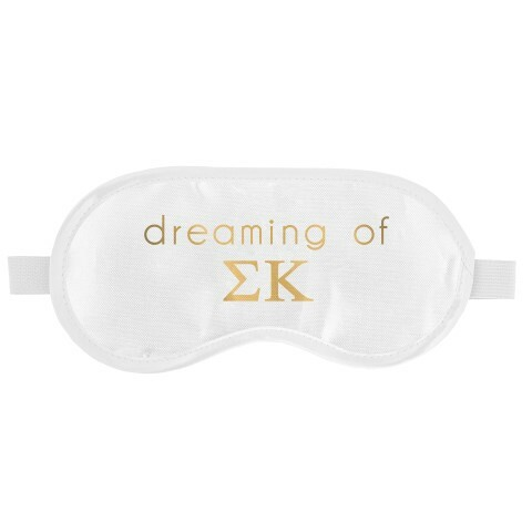 Sigma Kappa Satin Sleep Masks