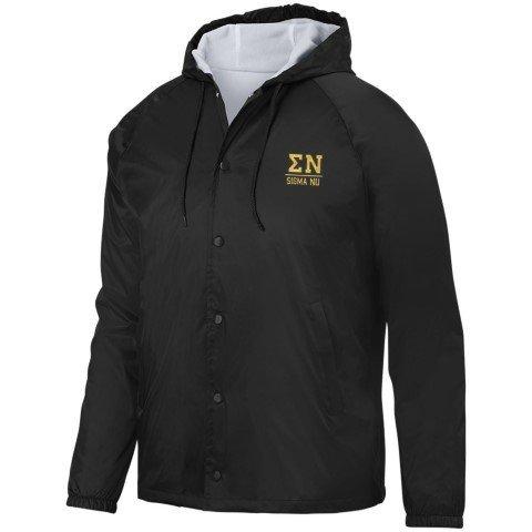 Sigma Nu Hooded Coach's Jacket