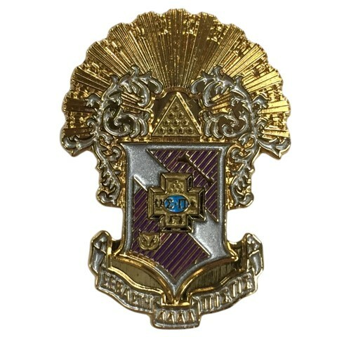 Sigma Pi Color Crest - Shield Pins