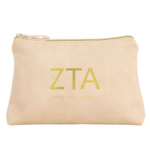 Sorority Vegan Leather Cosmetic Bags