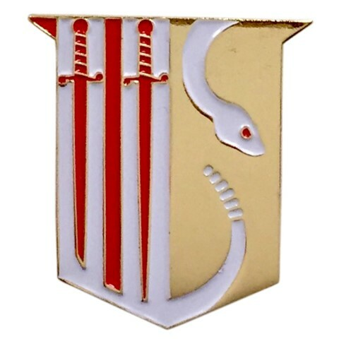 Theta Chi Color Crest - Shield Pins
