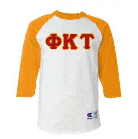 DISCOUNT- Phi Kappa Tau Lettered Raglan T-Shirt