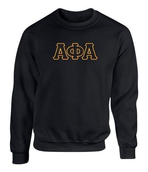 Alpha Phi Alpha 2 Day Ship Twill Crewneck Sweatshirt