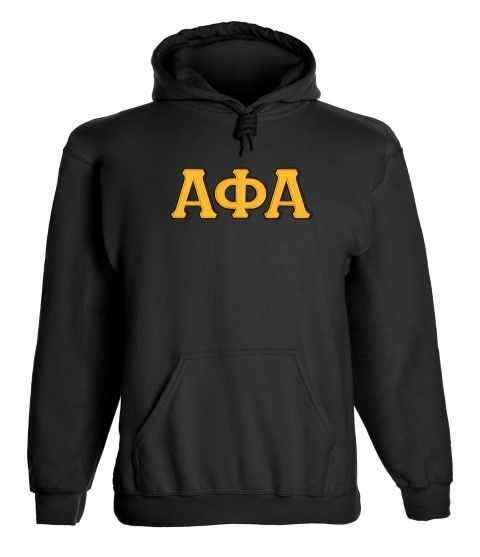 Alpha Phi Alpha 2 Day Ship Twill Hooded Sweatshirt