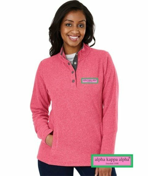 Alpha Kappa Alpha Preppy Patch Bayview Fleece Pullover