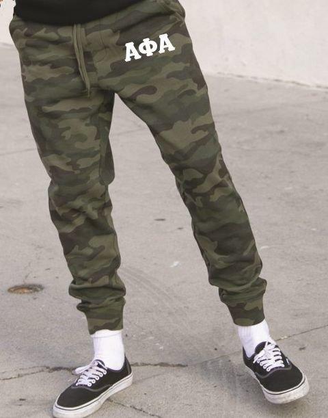 Alpha Phi Alpha Camo Fleece Pants
