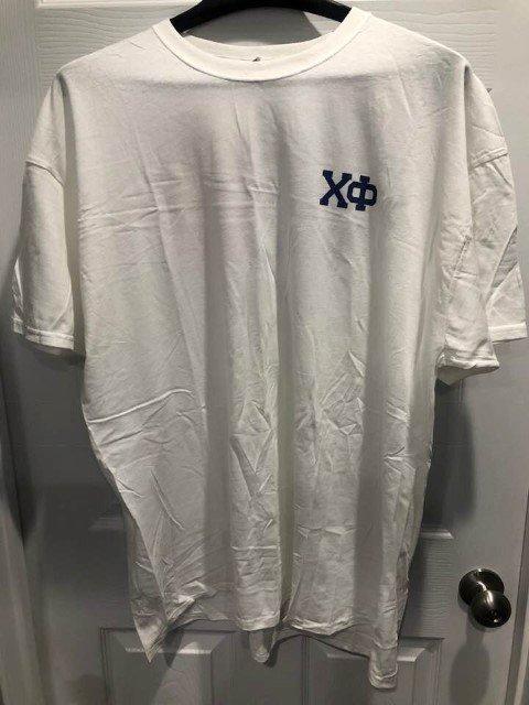New Super Savings - Chi Phi Flag T-Shirt - WHITE