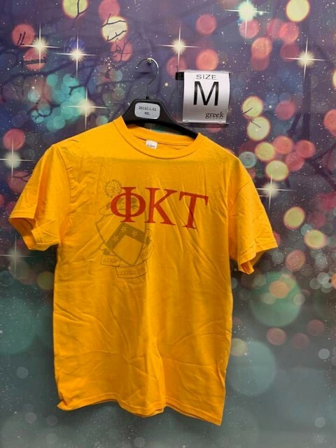 New Super Savings - Phi Kappa Tau Greek Crest - Shield T-shirt - GOLD