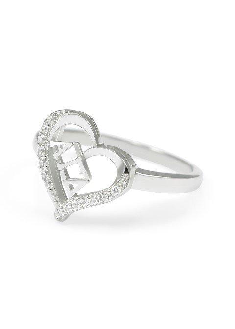 Alpha Gamma Delta Heart Ring