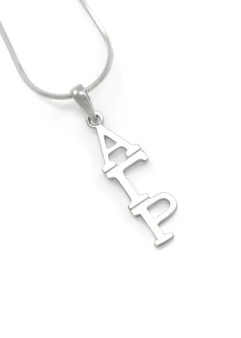 "Alpha Gamma Rho Sterling Silver Lavaliere Pendant w/ 18"" Chain"