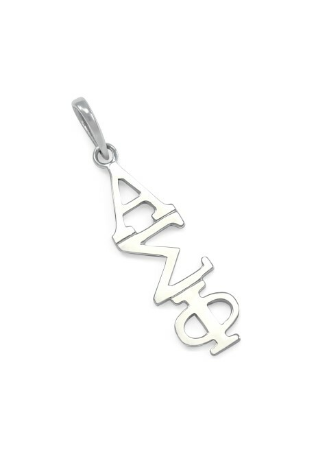 Alpha Sigma Phi Greek 14K Solid Gold Lavaliere