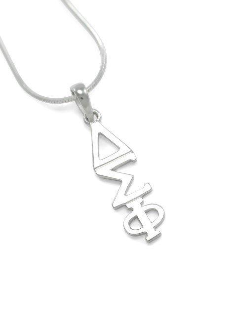 """Delta Sigma Phi Sterling Silver Lavaliere Pendant w/ 18"""" Chain"""