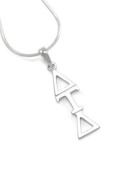 """Delta Tau Delta Sterling Silver Lavaliere Pendant w/ 18"""" Chain"""