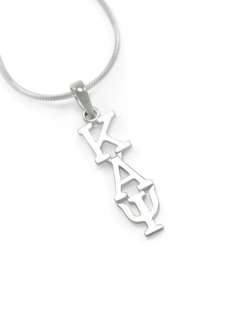 "Kappa Alpha Psi Sterling Silver Lavaliere Pendant w/ 18"" Chain"