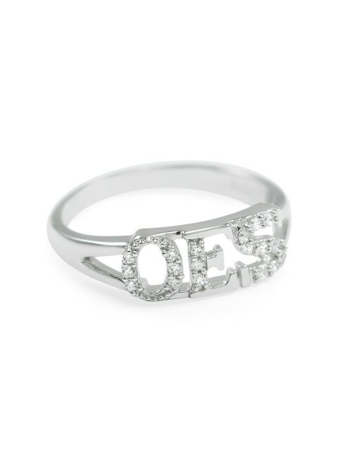 OES Sterling Silver Ring set with Lab-Created Diamonds