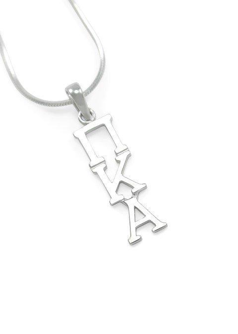 "Pi Kappa Alpha Sterling Silver Lavaliere Pendant w/ 18"" Chain"