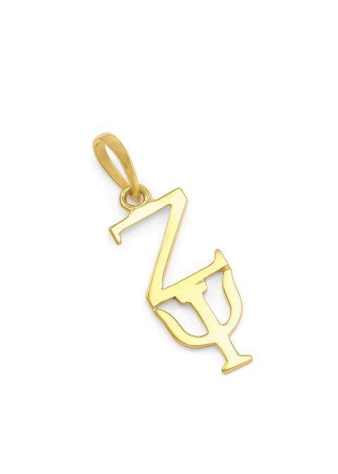 Zeta Psi Premiere Gold Lavaliere
