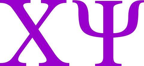 Chi Psi Greek Letter Window Sticker Decal