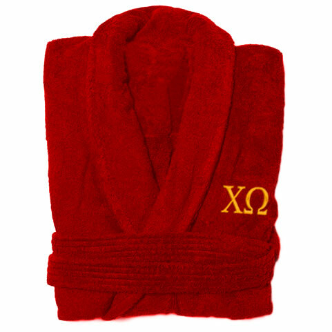Chi Omega Greek Letter Bathrobe