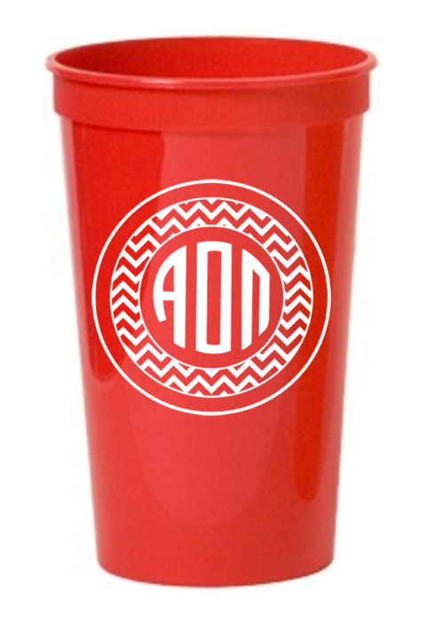 Alpha Omicron Pi Monogrammed Giant Plastic Cup