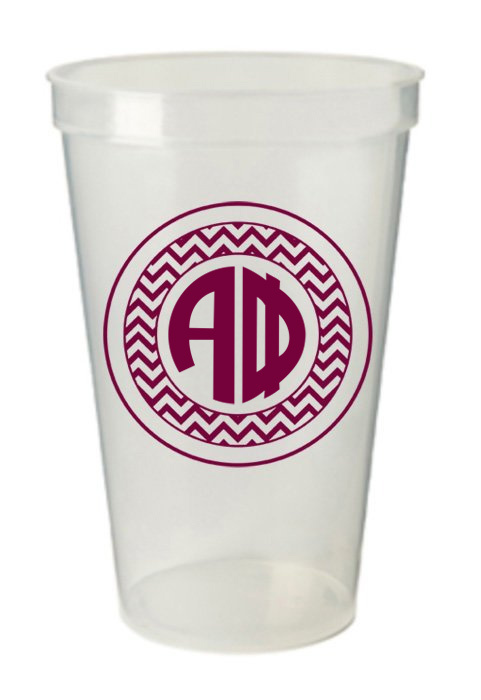 Alpha Phi Monogrammed Giant Plastic Cup