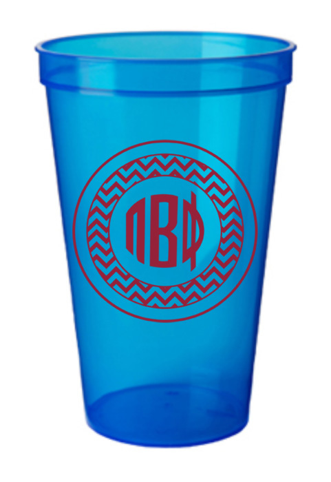 Sorority Monogrammed Giant Plastic Cups