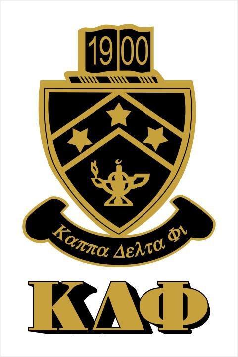 Kappa Delta Phi Crest - Shield Window Decals Stickers