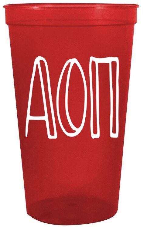 Alpha Omicron Pi Carson Stadium 22 oz. Cup