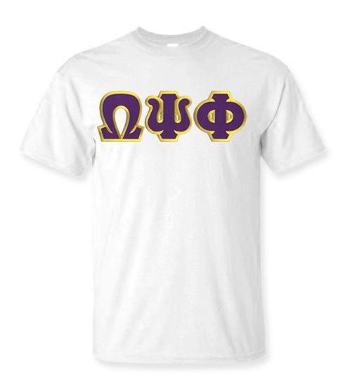 DISCOUNT Omega Psi Phi Lettered T-shirt